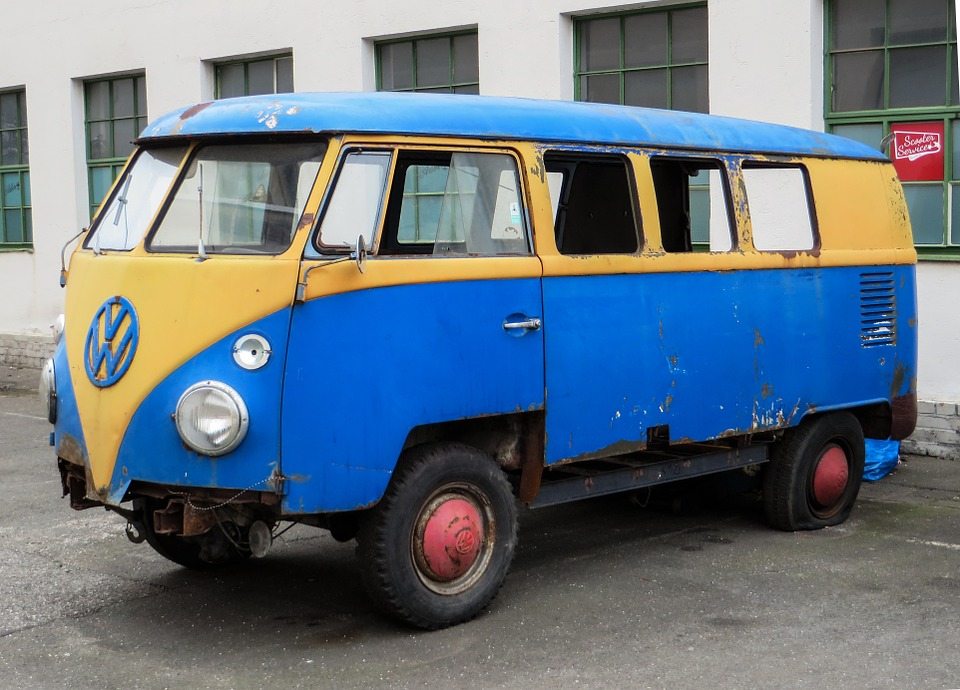 Auto, Old, Scrap, Stainless, Vw, Vw Bus