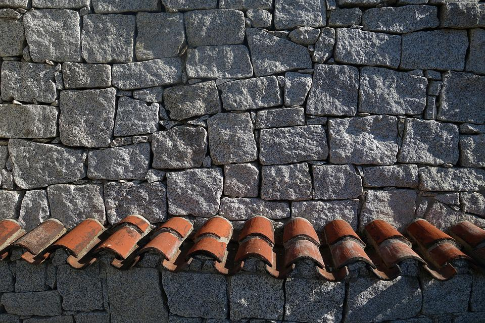 Roof, Roofing Tiles, Stone, Stone Wall, Background, Old