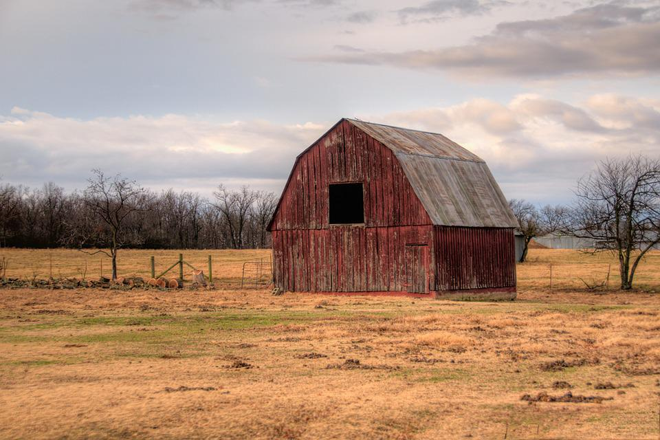 Barn, Landscape, Farm, Countryside, Old, Rural, Wooden
