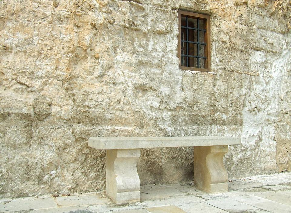 Stone, Bench, Outdoor, Nature, Summer, Old