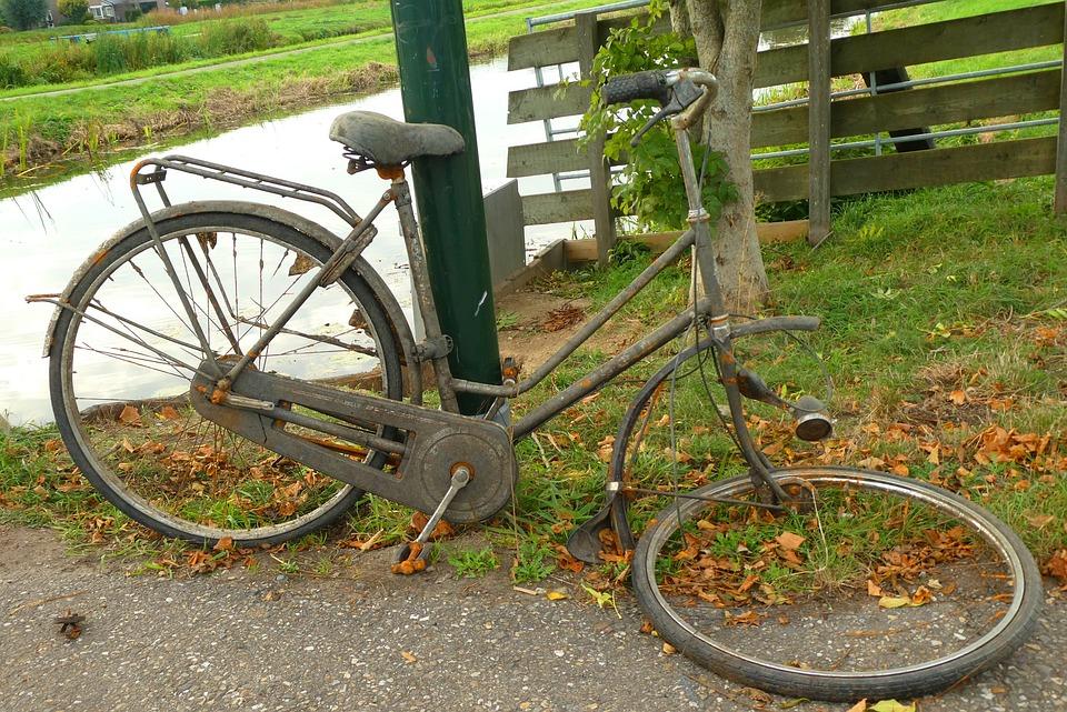 Old Bicycle, Wreck, Waste, Rust, Scrap, Garbage, Metal