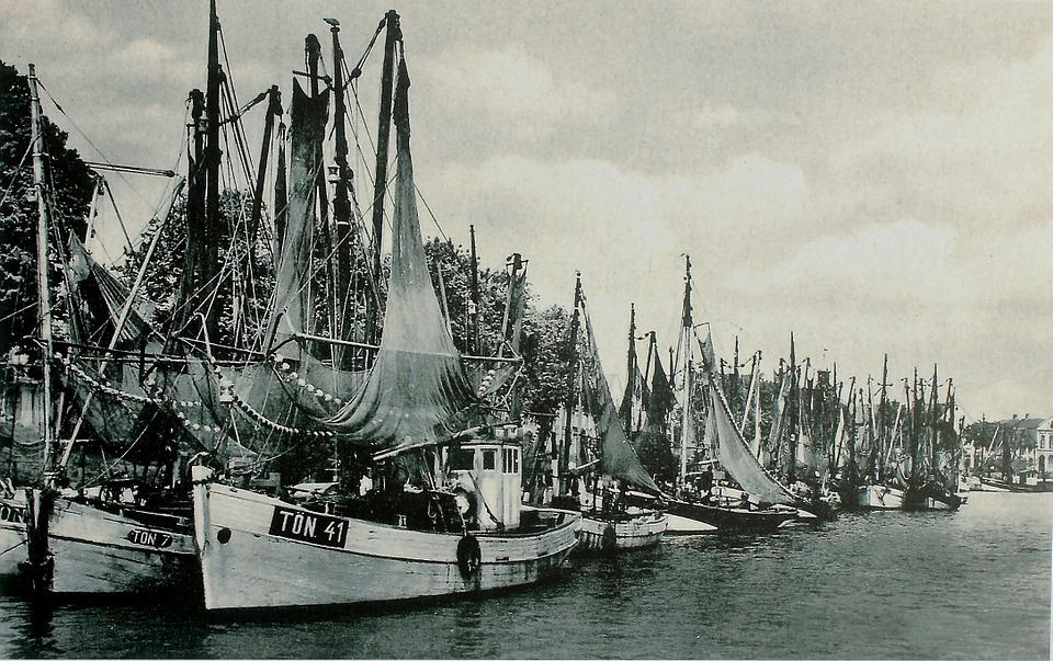 Old, Black And White Photo, Old Picture, Sailing Boats