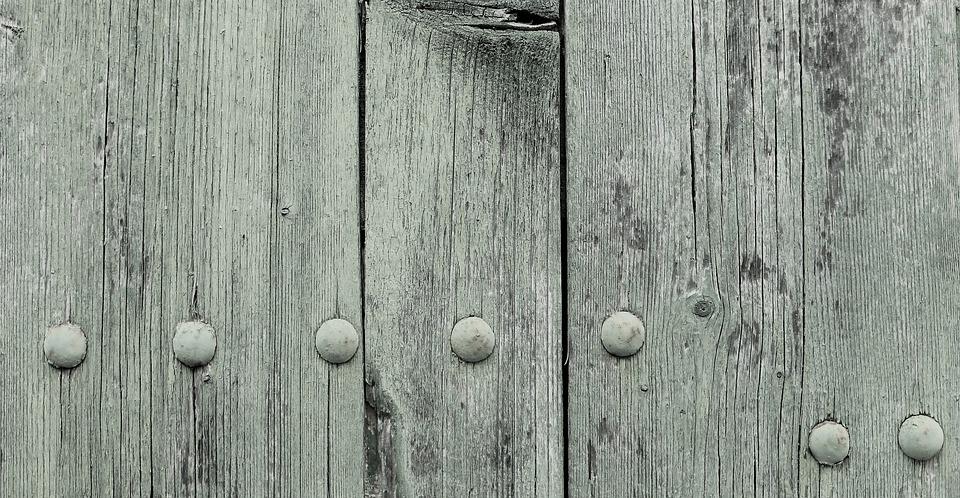 Wood, Panel, Old, Rough, Blue, Screw, Make Screen