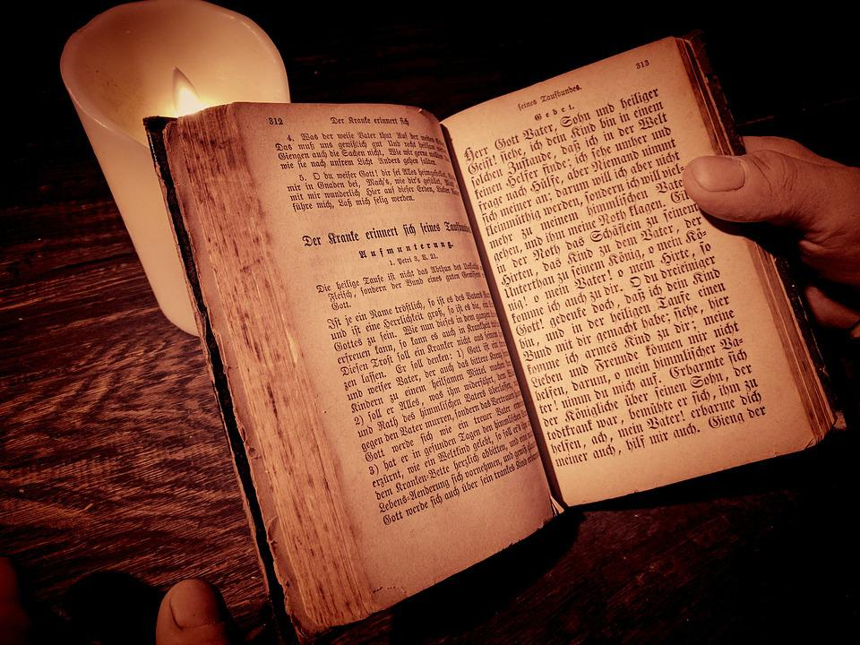 Book, Candle, Old