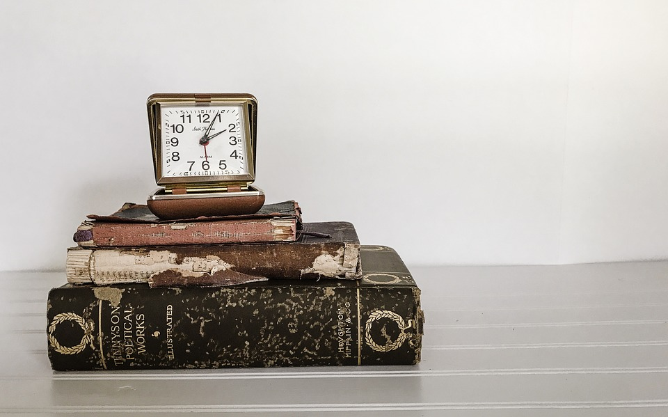 Books, Clock, Vintage, Time, Old Books