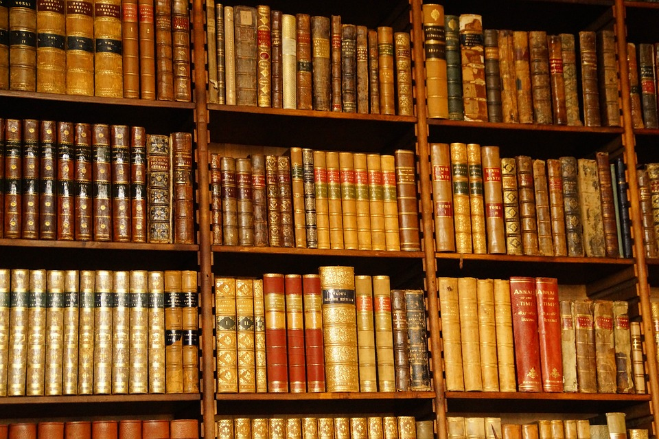 Library, Reading Room, Books, Spine, Shiny, Old
