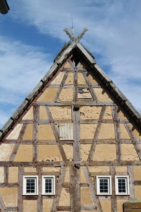 Stone Built House, Old, Stone House, Lapsed, Brick