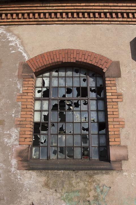 Factory, Old, Broken, Window, Ruin, Disc, Mold