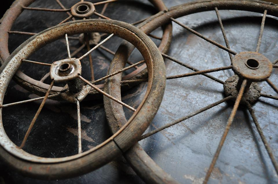 Antique, Vintage, Wheel, Buggy, Old, Rusty, Black
