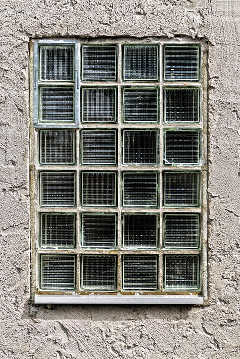 Facade, Glass Blocks, Window, Wall, Building, Old, Home