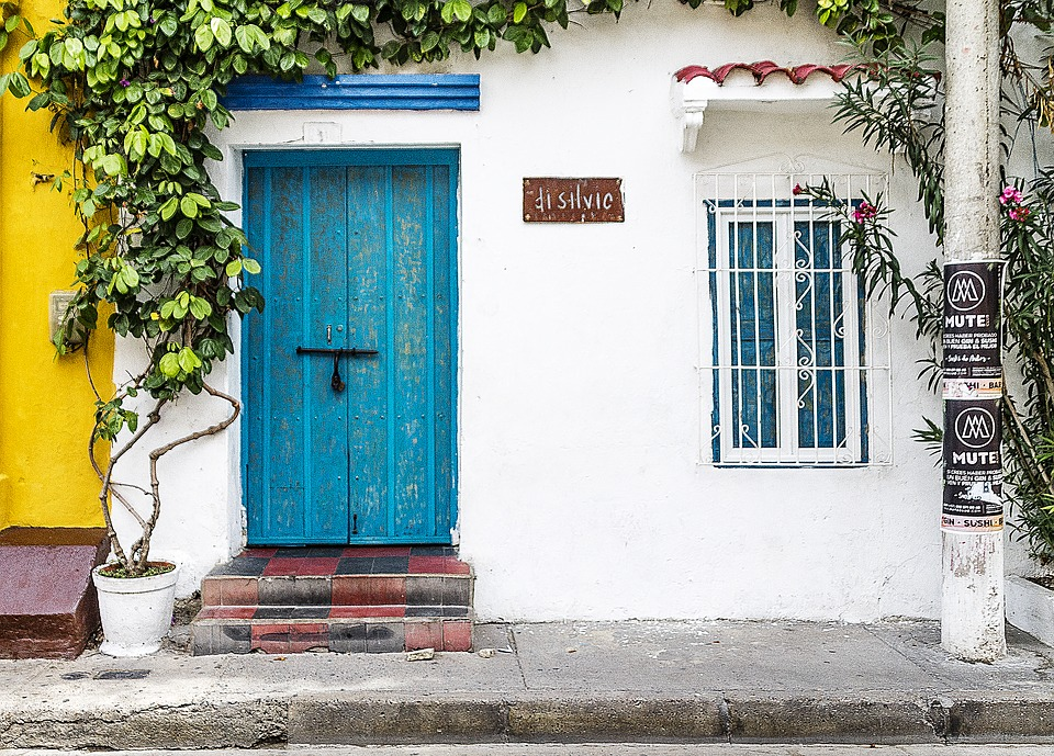 Building, House, Old, Colonial, Doors, Architecture