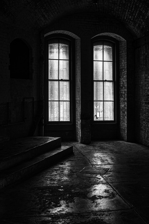 Abandoned, Old Building, Windows, Reflections
