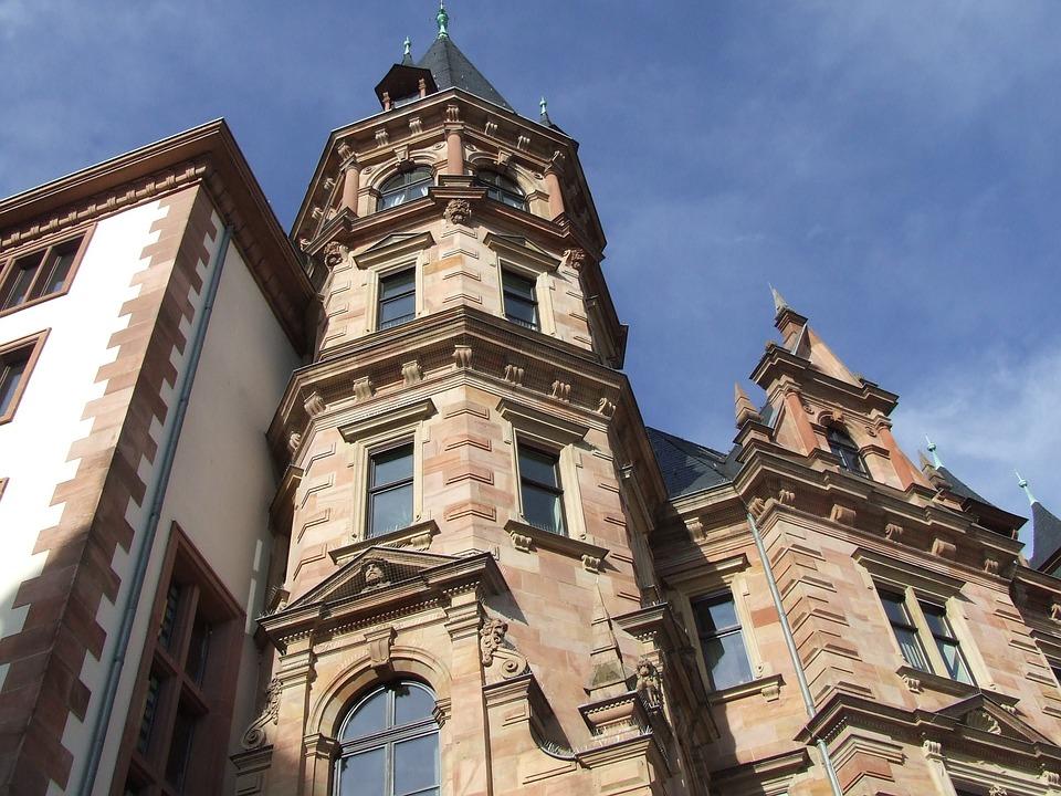 Wiesbaden, Old Building, Towers