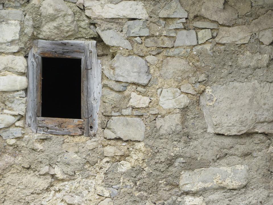 Wall, Stone, Old, Brick, Dirty, Window, Building