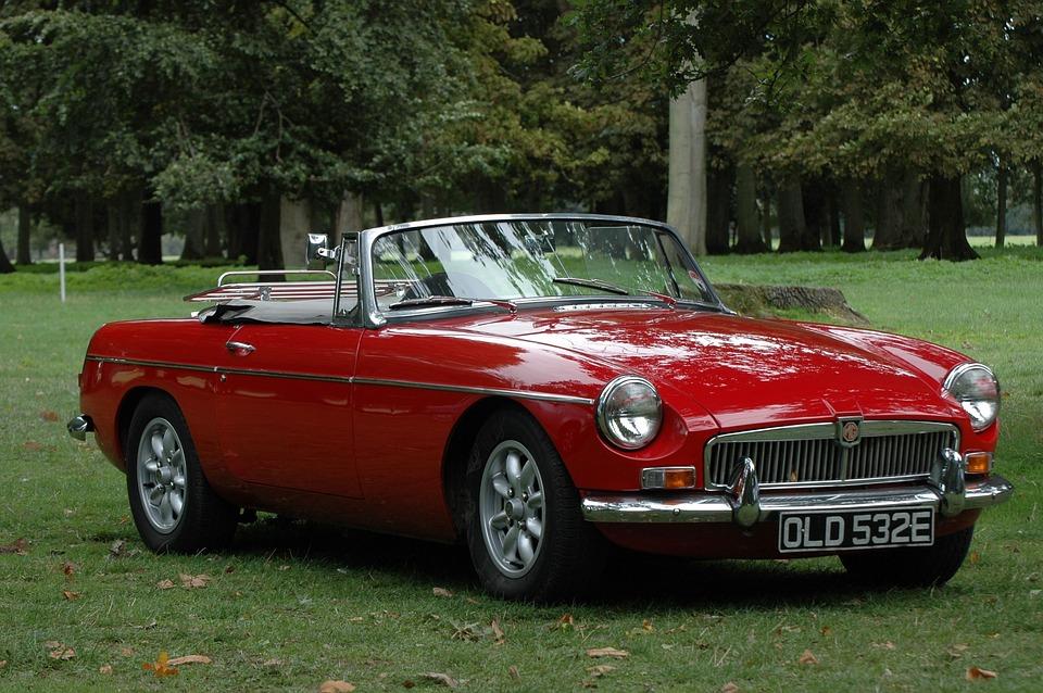 Oldtimer, Mg, Old Car, Automotive, Red, Sports Car