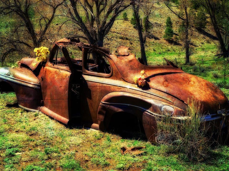 Old, Rusty, Car, Oldsmobile, Automobile, Corrosion