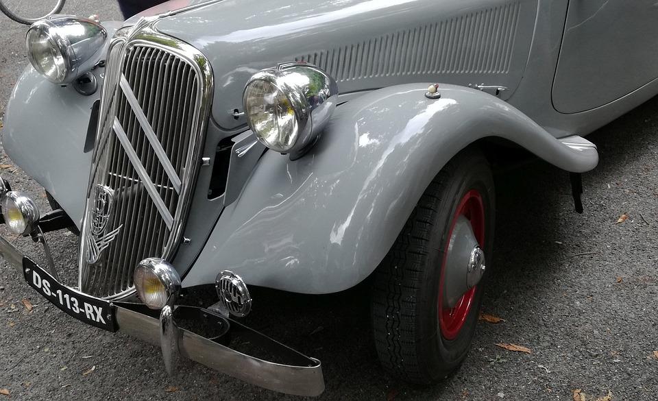 Old Car, Bodywork, Vehicle, Headlights