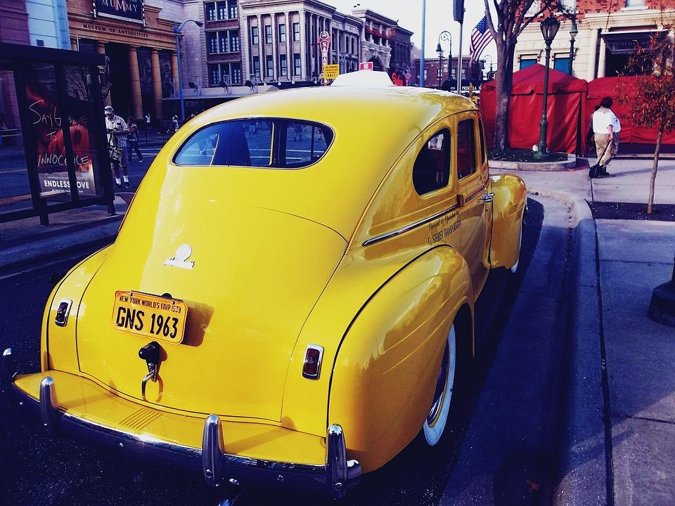 Taxi, Car, Vintage, Old