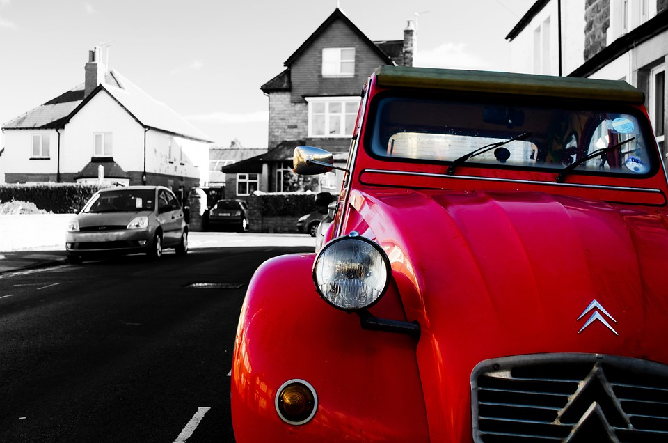 free photo old car wallpaper citroen color red street max pixel
