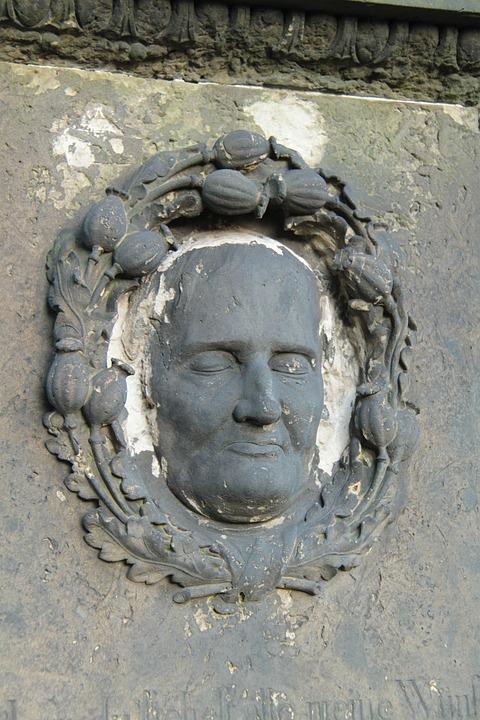 Old Cemetery, Dresden, Catholic, Figure, Face