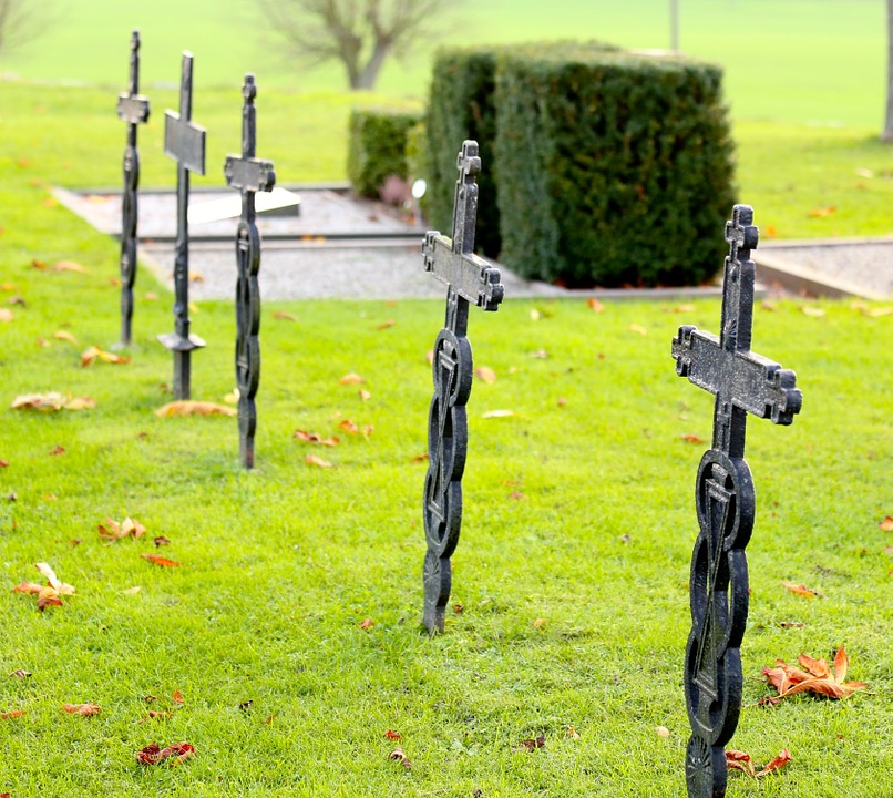 Iron Cross, Tomb, Cemetery, Old Cemetery, Carved