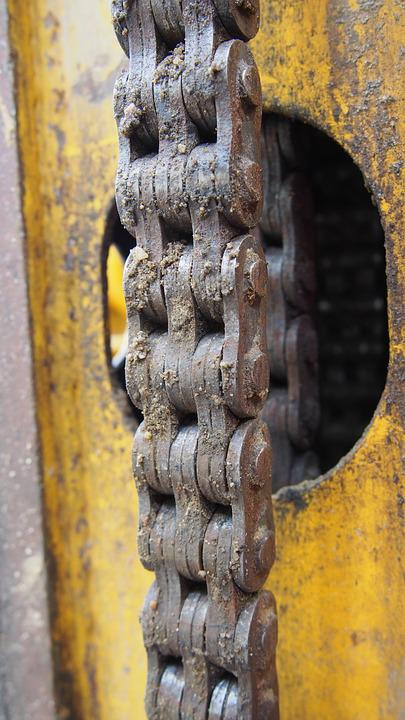 Iron, Rusty, Old, Steel, Rust, Chain, The Industry