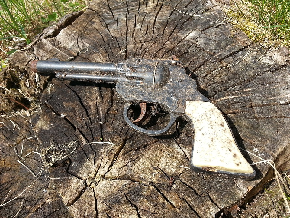 Pistol, Toys, Old, Weapon, Play, Children Toys