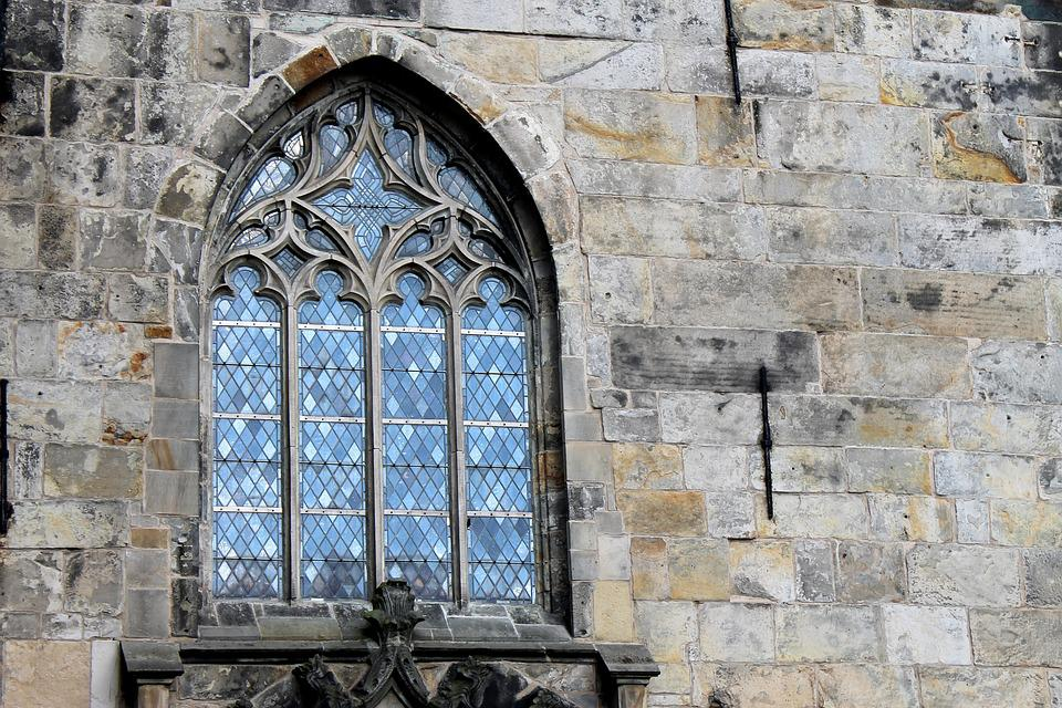 Church, Window, Sand Stone, Old, Glass, Wall