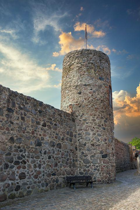 Owl Tower, Old, City Wall, Templin, Uckermark