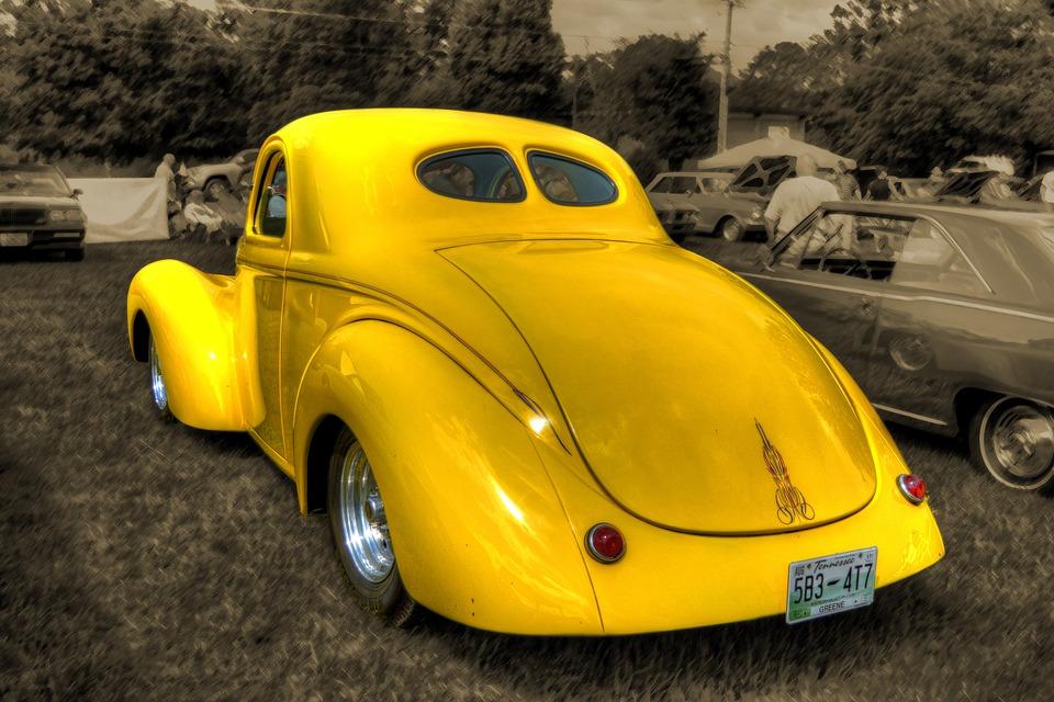 Car, Antique, Collectible, Vintage, Yellow, Retro, Old
