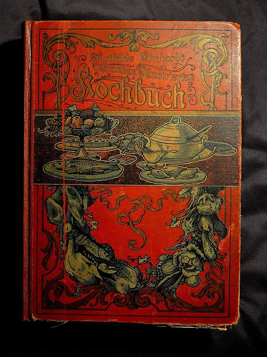 Antiquariat, Old Cookbook, Antiquarian Cookbook, Book