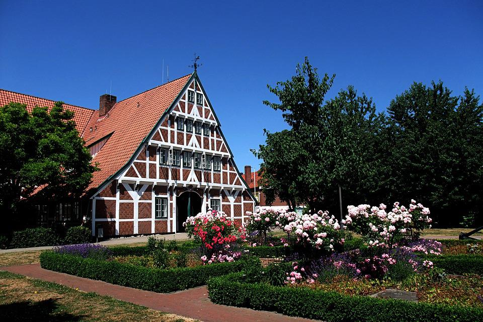 Town Hall, Northern Germany, Summer, Truss, Old Country