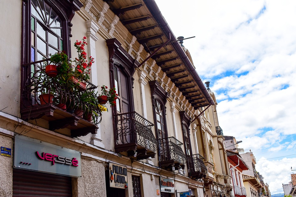Cuenca Ecuador, Architecture, Street, Old, House