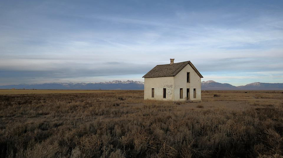 Abandoned, House, Desert, Old, Building, Mood, Decay