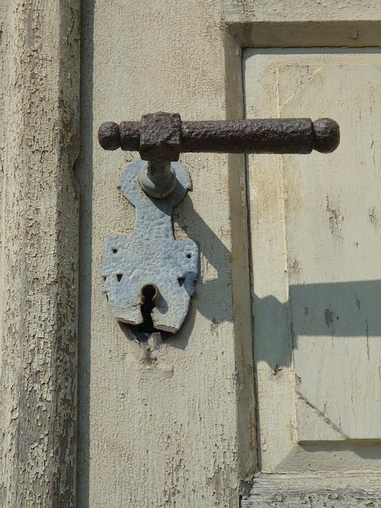 Door Handle, Input, Old Door, Portal, Door Lock