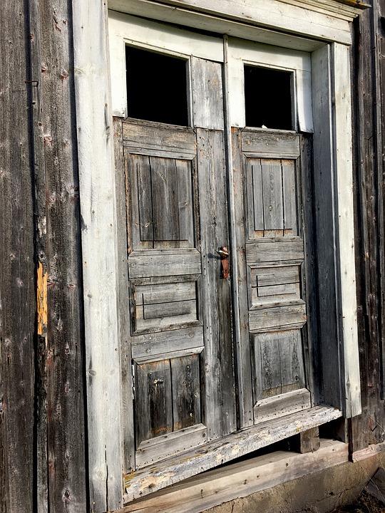 Ultervattnet, Port, Door, Old, Abandoned