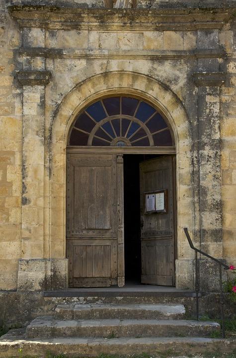 Dordogne, France, Church, Building, Architecture, Old
