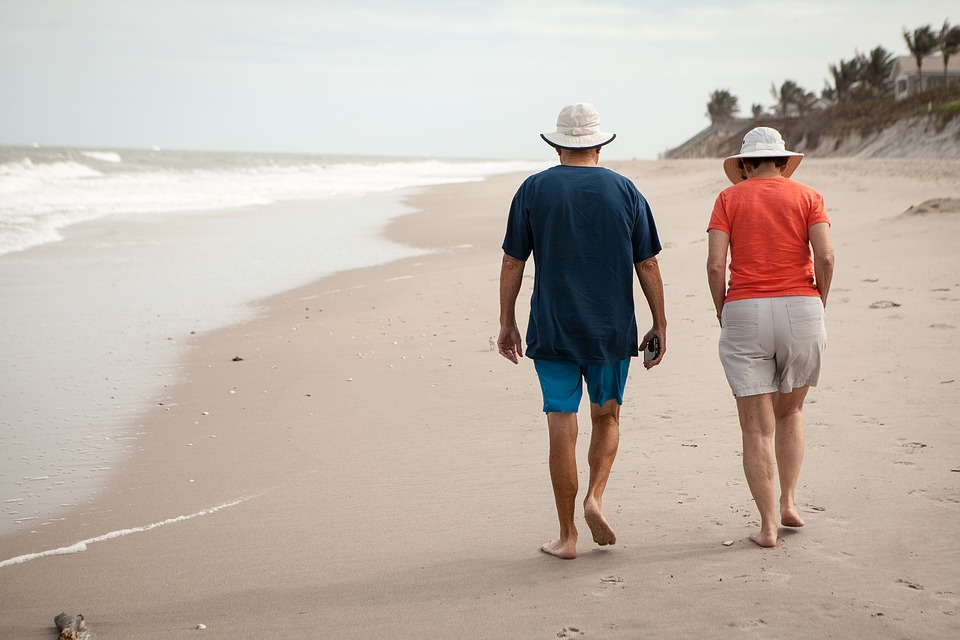Old, Elderly, Beach, Walk, Relax, Retirement, Senior