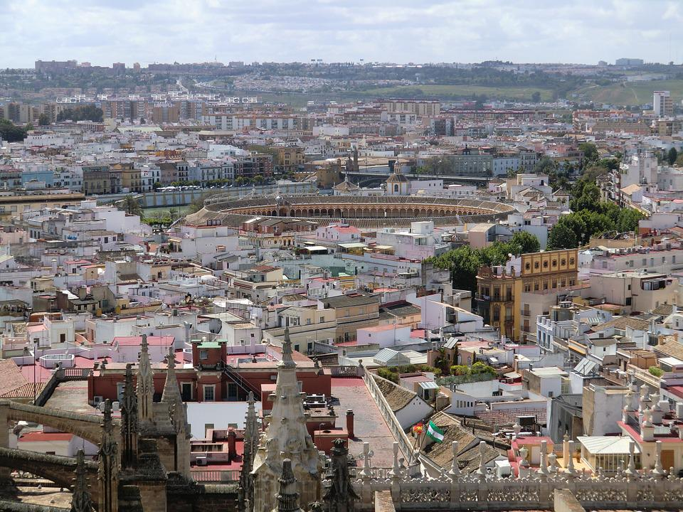 Sevilla, City, Old, View, Architecture, Europe