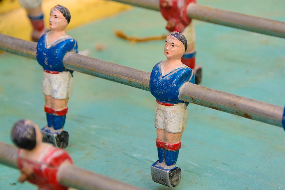 Table Football, Wuzler, Flea Market, Old, Junk