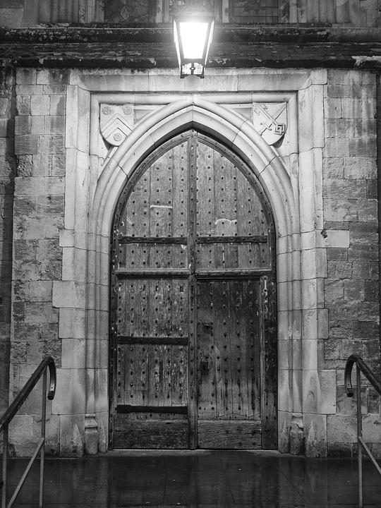 Goal, Lamp, Old Gate, Door, Lantern, Old, Architecture