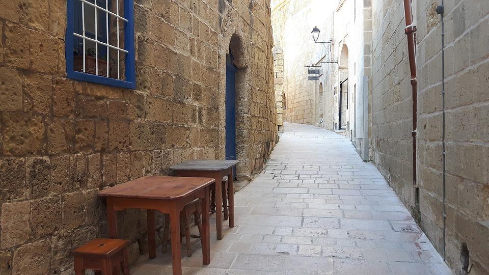 Malta, Gozo, Old, Street, Buildings, Old Castle
