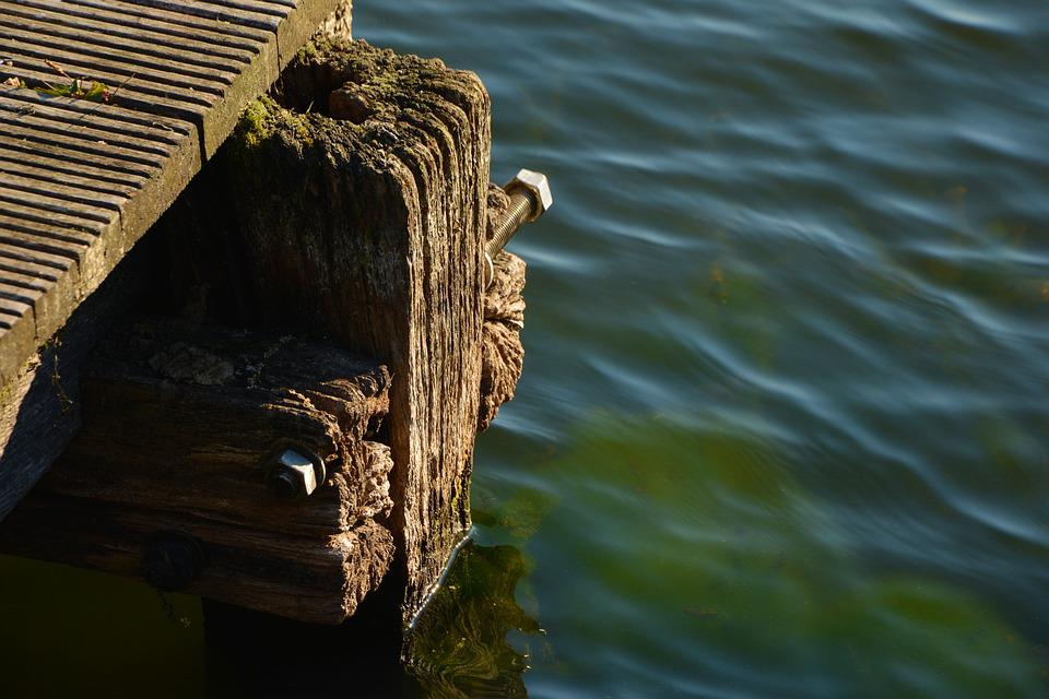 Jetty, Wood, Structure, Old Wood, Grain, Old, Lake