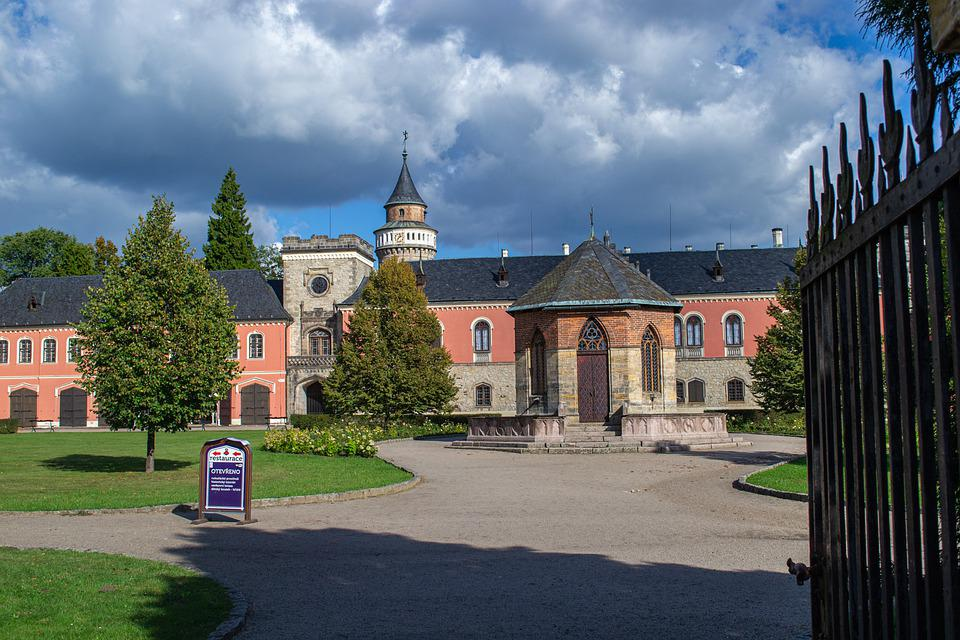 Castle, Architecture, Trees, Grass, Garden, Old