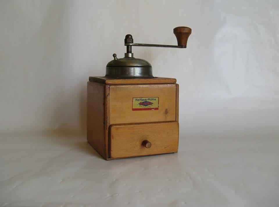Grinder, Coffee, Old, Crank, Mill, Historically, Grind