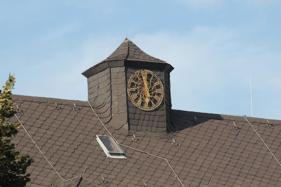 Hospital, Clock, Old, Old Fashioned, Photography, Canon