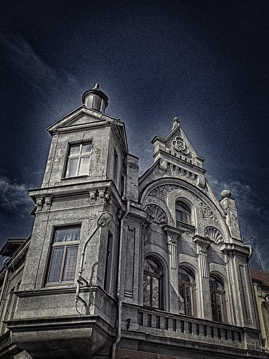 Dark, Horror Movie, Old House, City, Duchcov