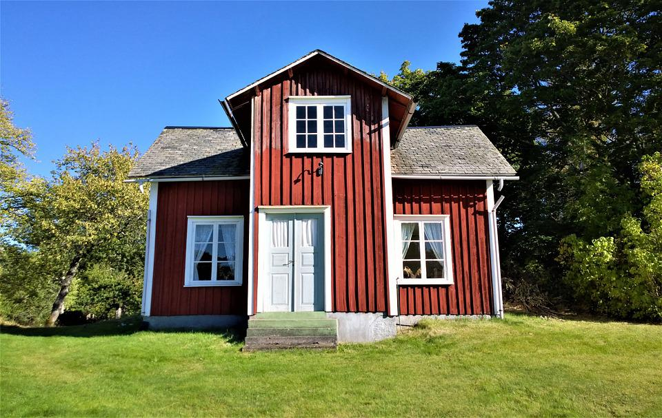 Cottage, House, Red Cottage, Torp, Old House, Roof