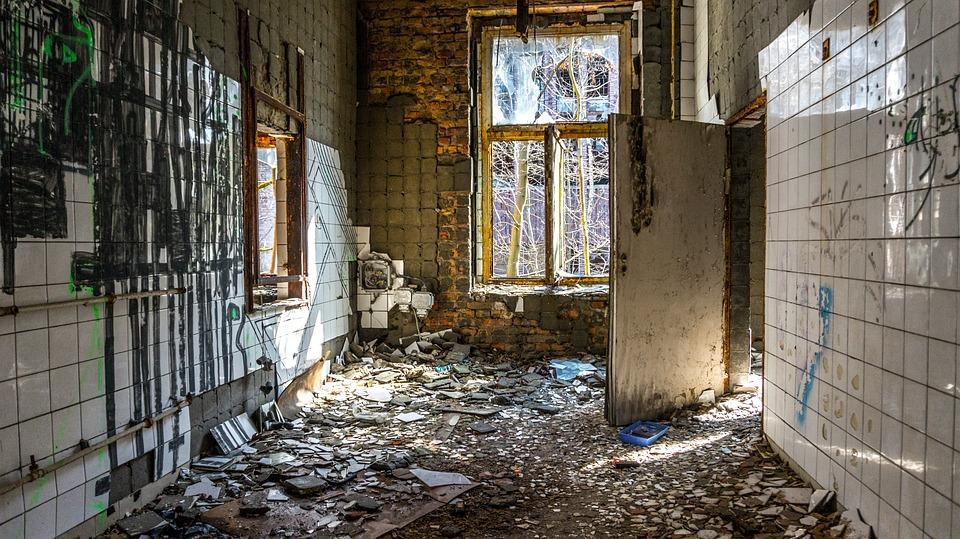 Abandoned, House, Old, Window, Break Up, Ruin