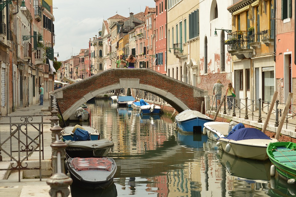Venice, Colors, Reflection, Old Houses, Boats, Channels